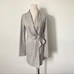 J.Crew Grey Jersey Knit Half Robe NEW XXS/XS